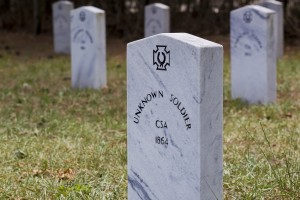 Graves of unknown Confederate soldiers